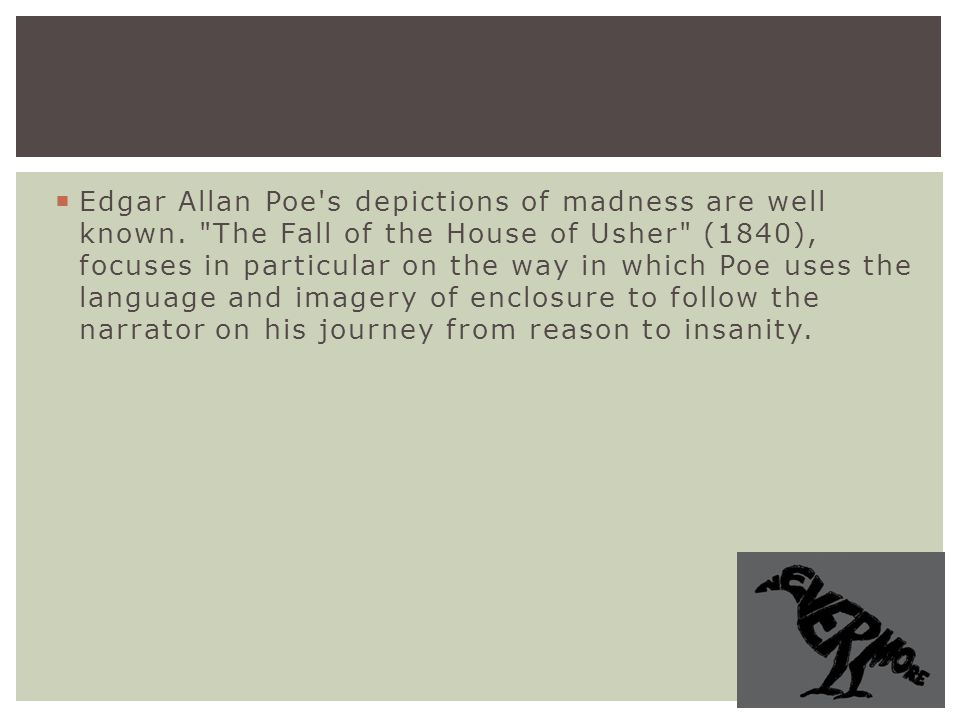 the use of symbolism in the short story the fall of the house of usher by edgar allan poe Allusion in symbolism and allegry essaysallusion in symbolism and allegory in the short story fall of the house of usher, edgar allan poe uses allusion in symbolism and allegory to.