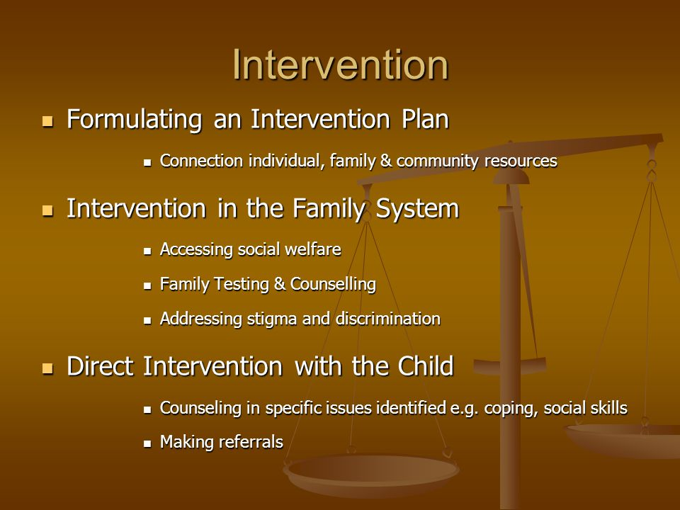 Intervention Formulating an Intervention Plan