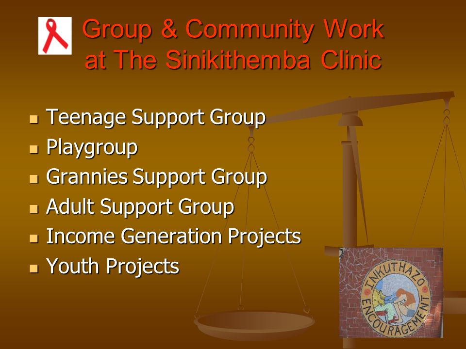 Group & Community Work at The Sinikithemba Clinic