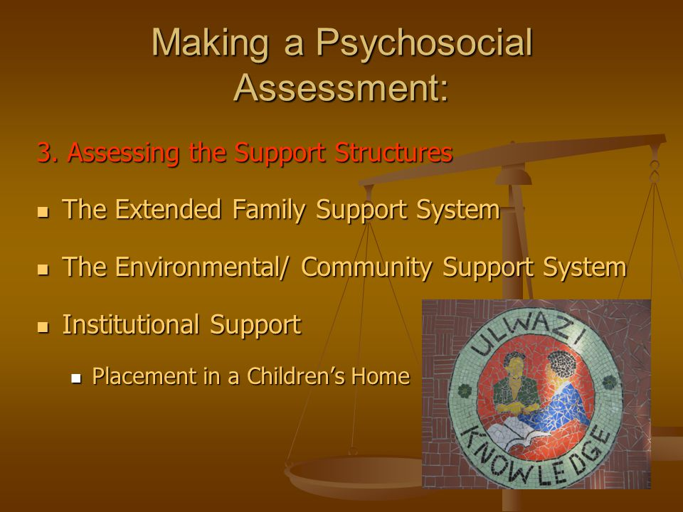 Making a Psychosocial Assessment: