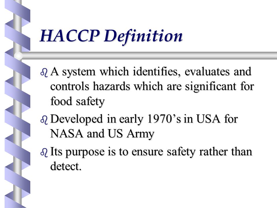 Hazard analysis and critical control points ppt video - Haccp definition cuisine ...