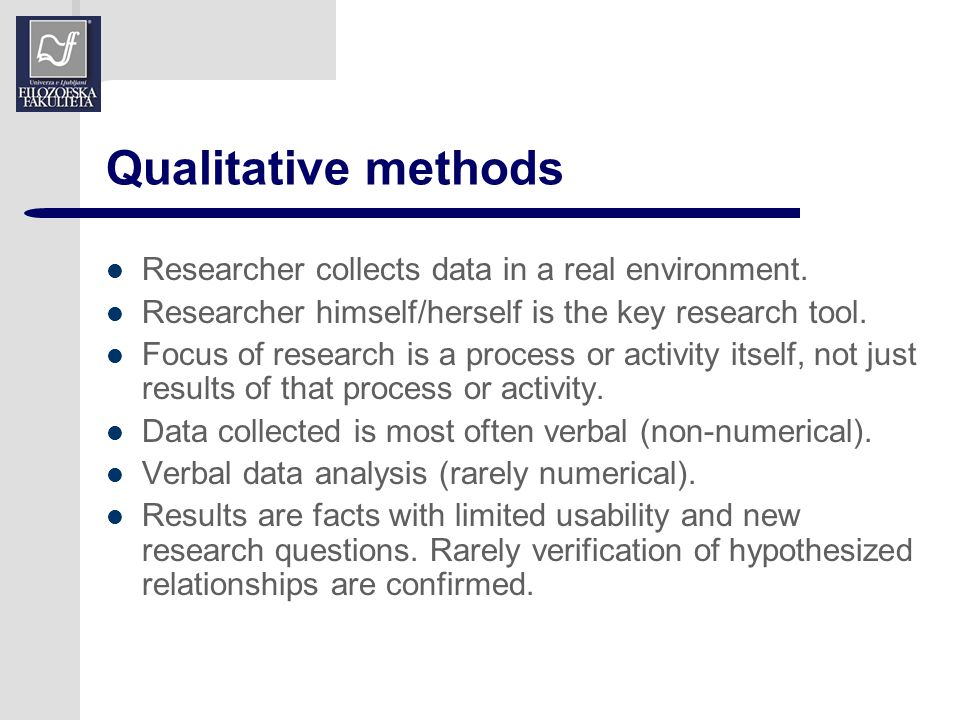 limitations of qualitative research methods The limitations and delimitations sections of your research proposal describe situations and circumstances that may affect or restrict your methods and analysis of research data limitations are influences that the researcher cannot control they are the shortcomings, conditions or influences that cannot be controlled by the researcher.