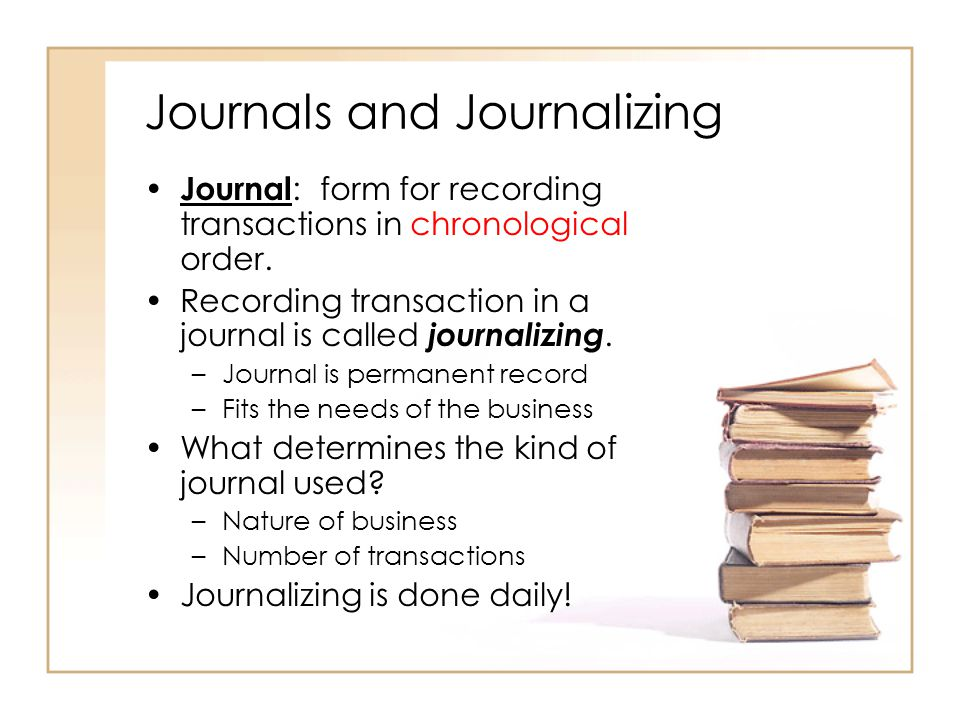 journal form