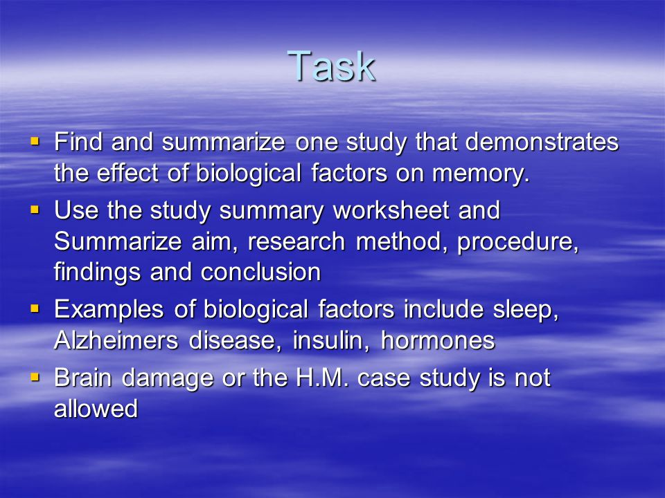 effect of sleep on memory Sleep deprivation not only affects how you feel the next day, it can also have an effect on multiple systems in your body from weight gain to an early death, a lack of sleep can have a.