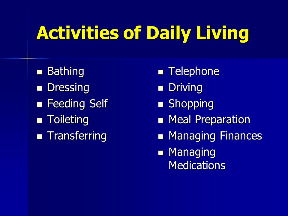 activities of daily living care plan What are the activities and instrumental activities of daily living: plan for care of daily living are a series of basic activities performed by.