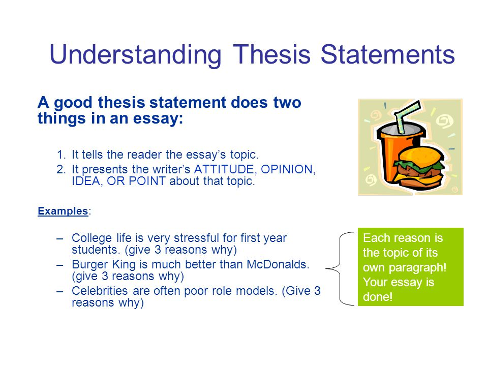 Writing A Good Thesis Statement  Ppt Video Online Download Understanding Thesis Statements