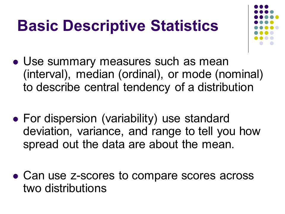 Basic Descriptive Statistics