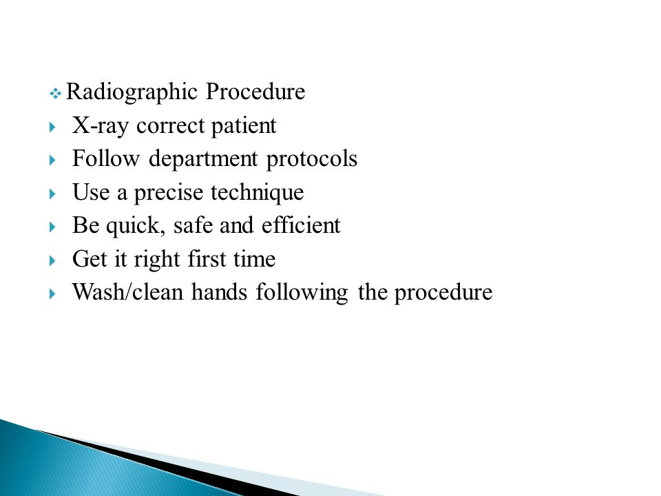 Radiographic Procedure