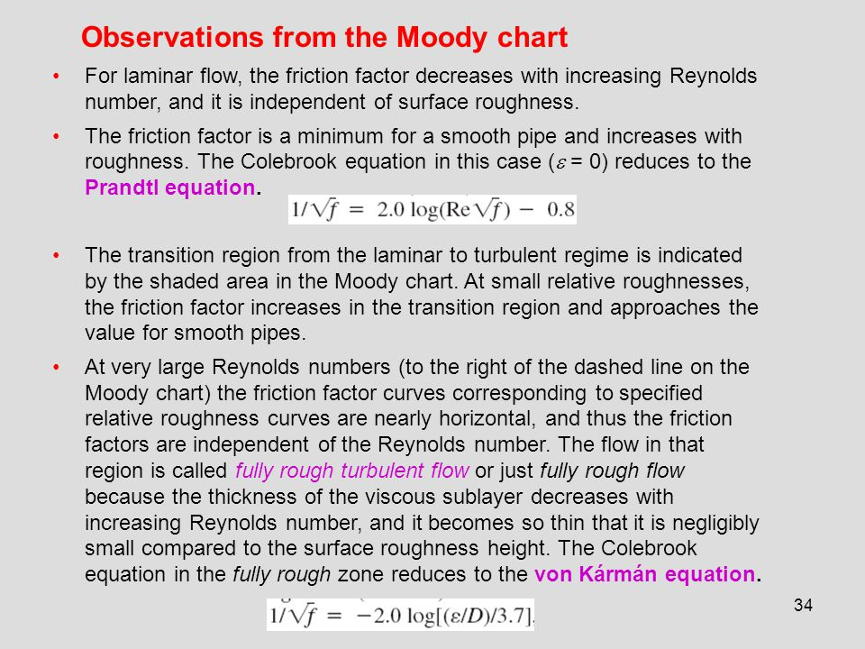 Chapter 8 flow in pipes internal flow ppt download observations from the moody chart ccuart Images