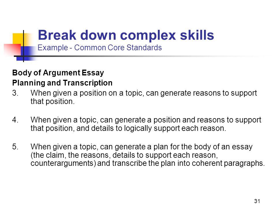 essay plan instruction