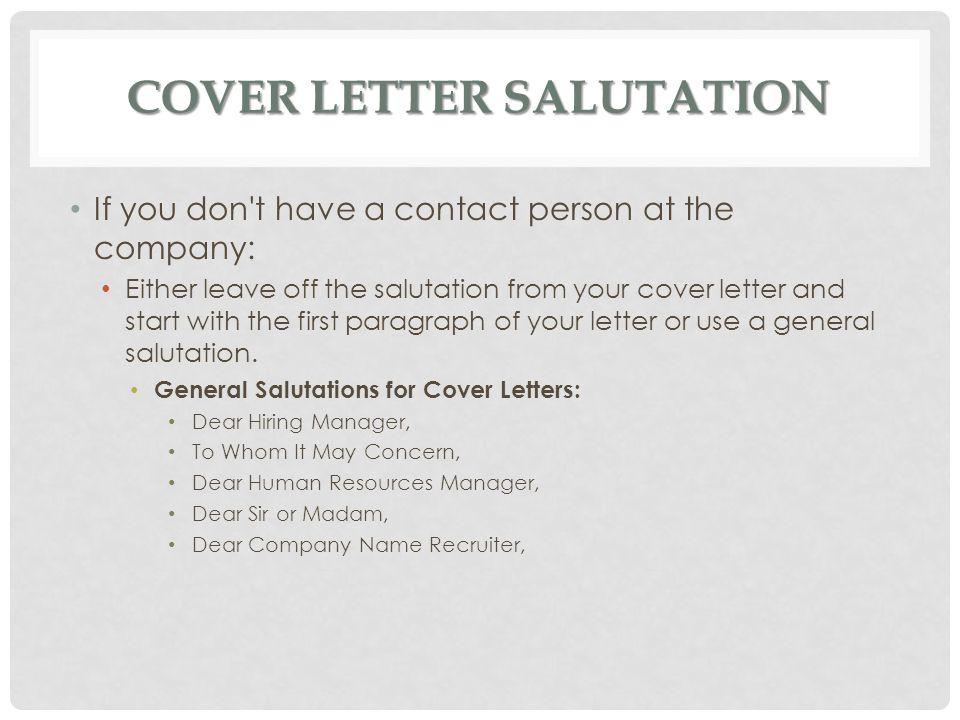 Cover letter dear name
