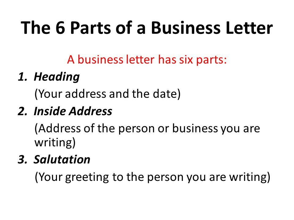 The Business Letter  Ppt Video Online Download