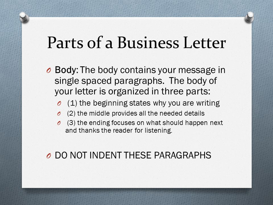 Do You Use Indent In Business Letter