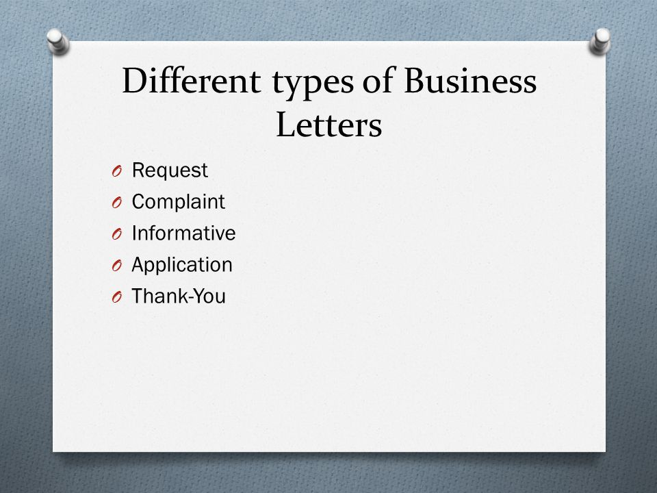 Formats for Different Business Letter Types  UniversalClass