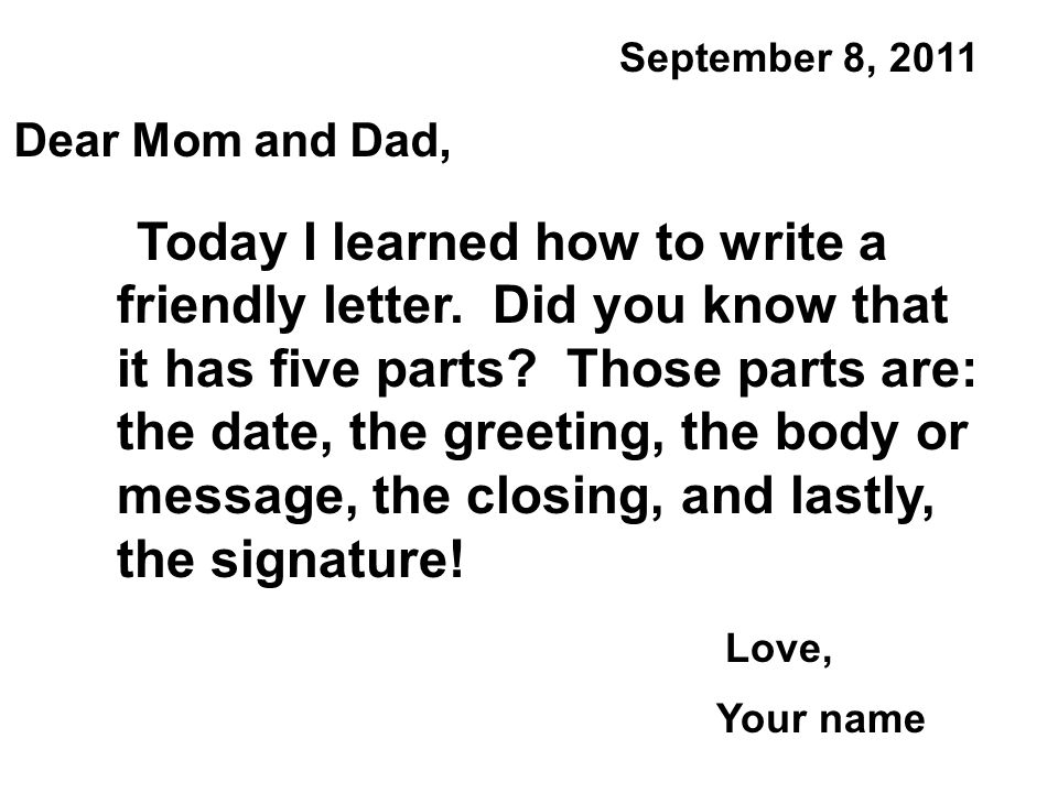 Examples of a friendly letter format picture ideas references writing a friendly letter 150 words gallery altavistaventures Images
