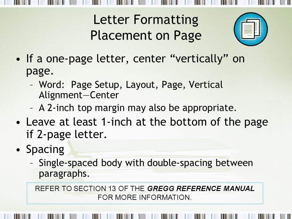 Formatting business documents ppt video online download letter formatting placement on page spiritdancerdesigns Gallery