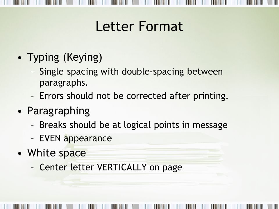 Formatting business documents ppt video online download 2 letter spiritdancerdesigns Gallery
