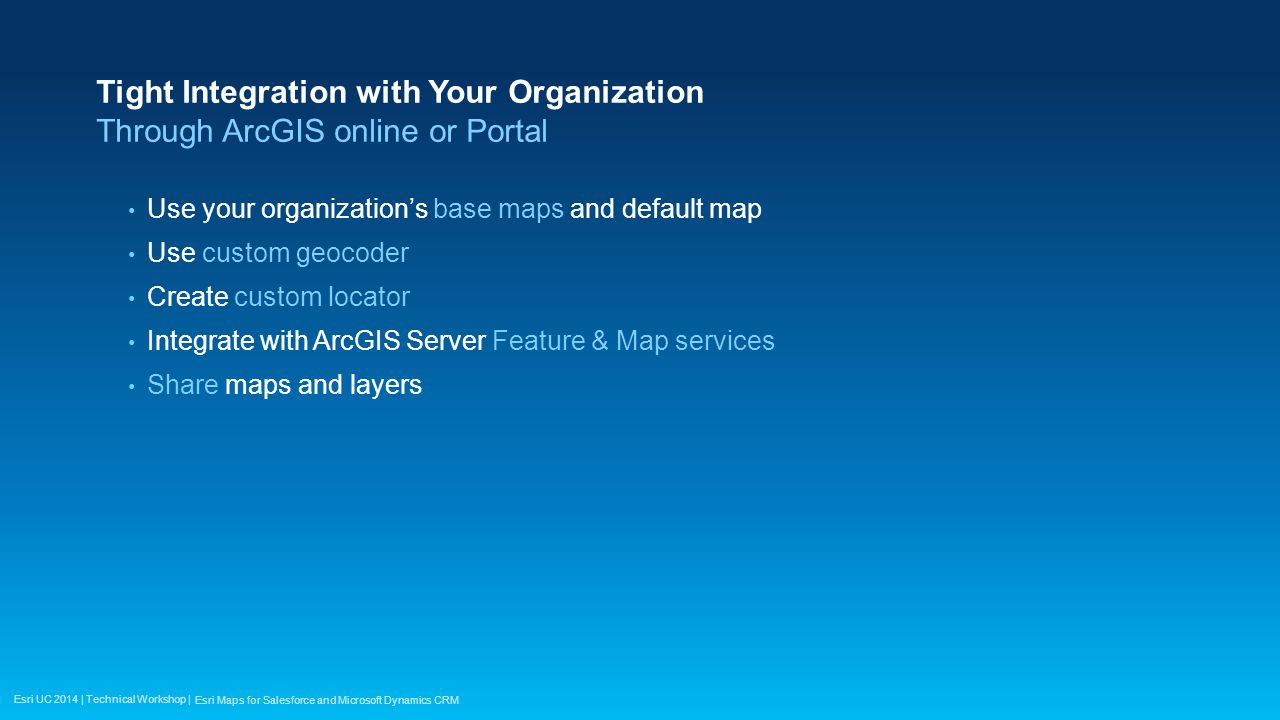 Esri Maps for Salesforce and Microsoft Dynamics CRM  ppt video