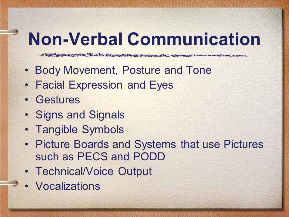an overview of the use of non verbal expressions for communication Nonverbal communication is communication without the use of words here  things are conveyed through body language and gestures of the individual, such  as.