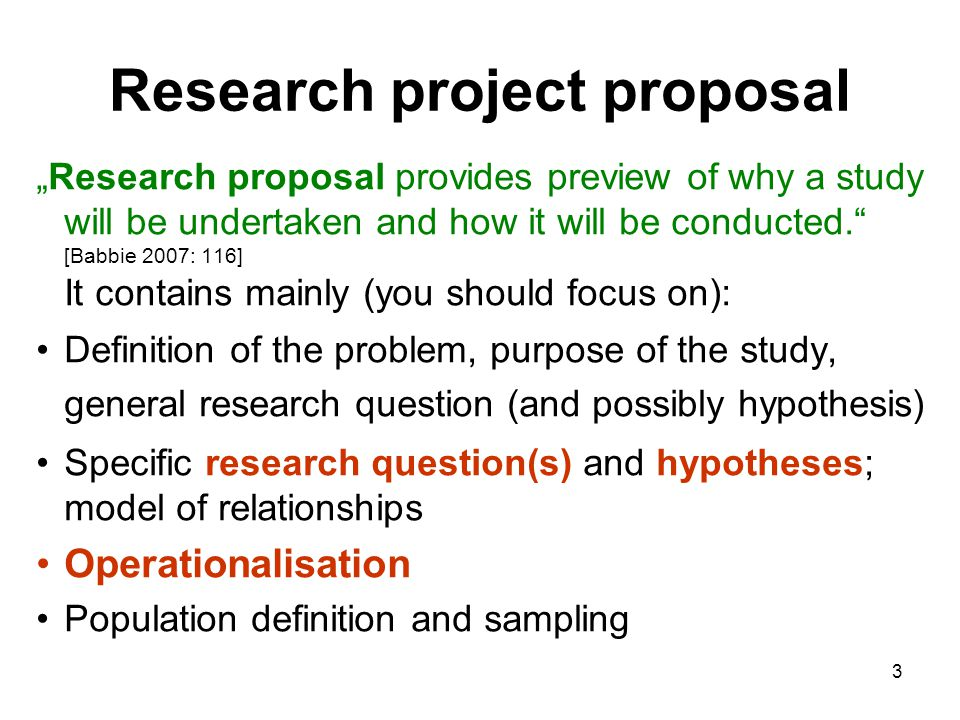 research proposal question