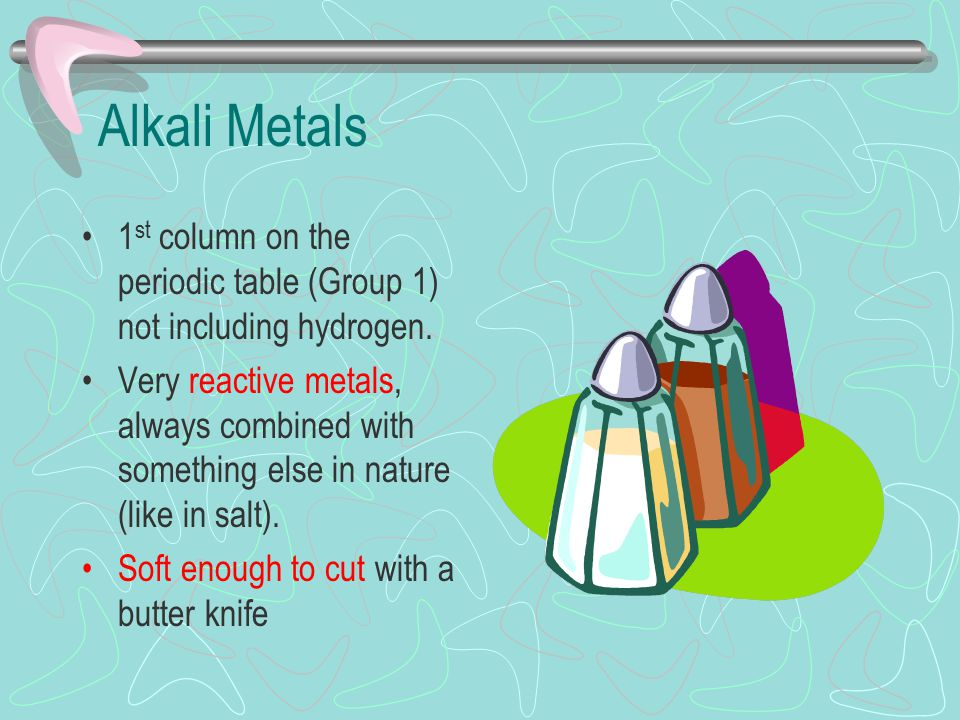 8 alkali metals 1st column on the periodic table - Periodic Table With Alkali Metals Etc