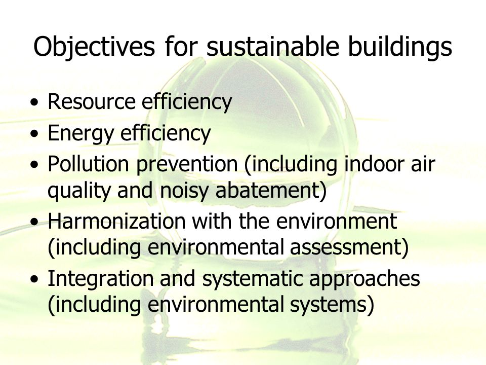Sustainable building design ppt download for Indoor environmental quality design