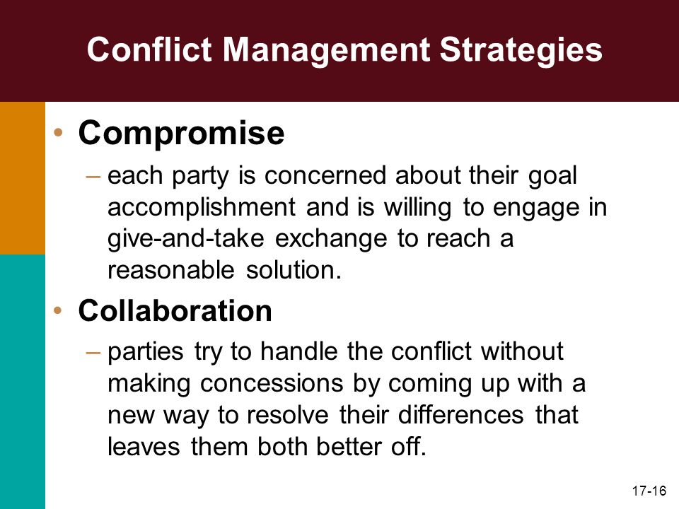 conflict management and conflict solutions Organizations and conflict management and organizational change natural and necessary to produce innovative solutions to problems.