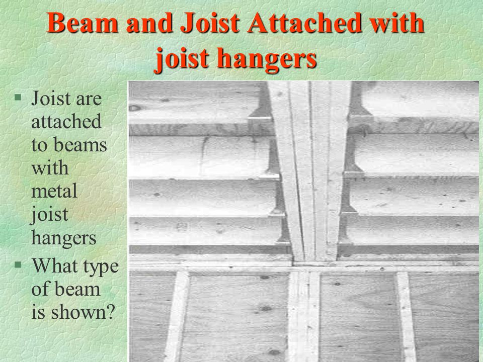 Beam and Joist Attached with joist hangers