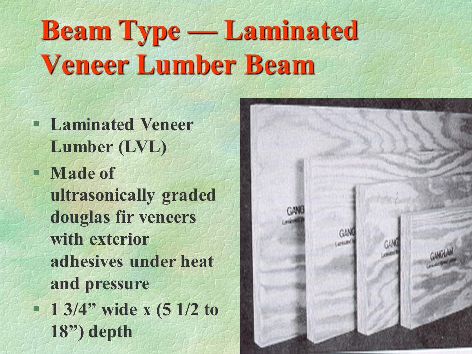 Beam Type — Laminated Veneer Lumber Beam