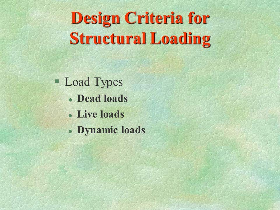 Design Criteria for Structural Loading