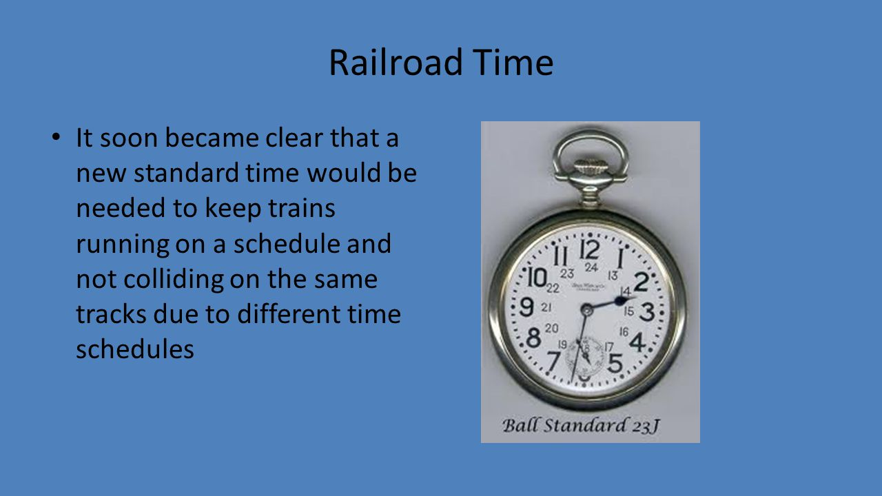railroad standard time essay Harriet tubman: conductor underground railroad by  support to develop a constructed response / essay  standard and implied thesis development slides.