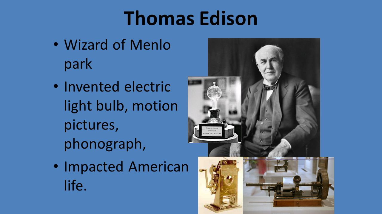 thomas edison and the production of electricity in the cities of america – thomas edison edison is a very controversial character although during his life  in 1896, and was filmed in new york city in 1913,  bergmann & company, and edison electric light company.