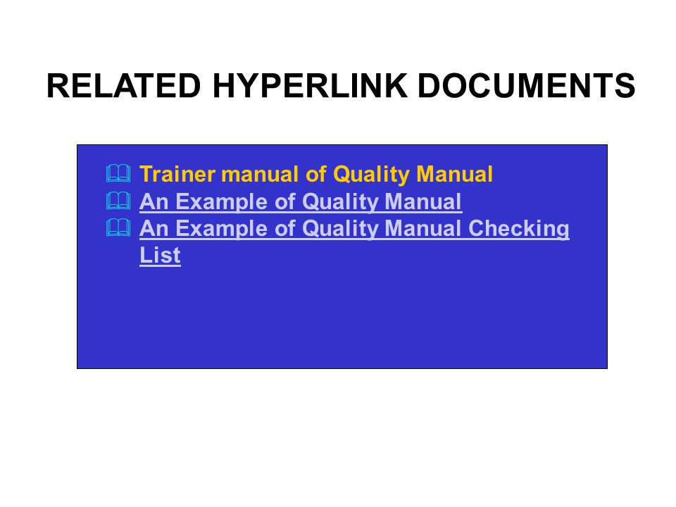 Quality systems approach ppt video online download summary quality manual 57 related hyperlink documents publicscrutiny Gallery