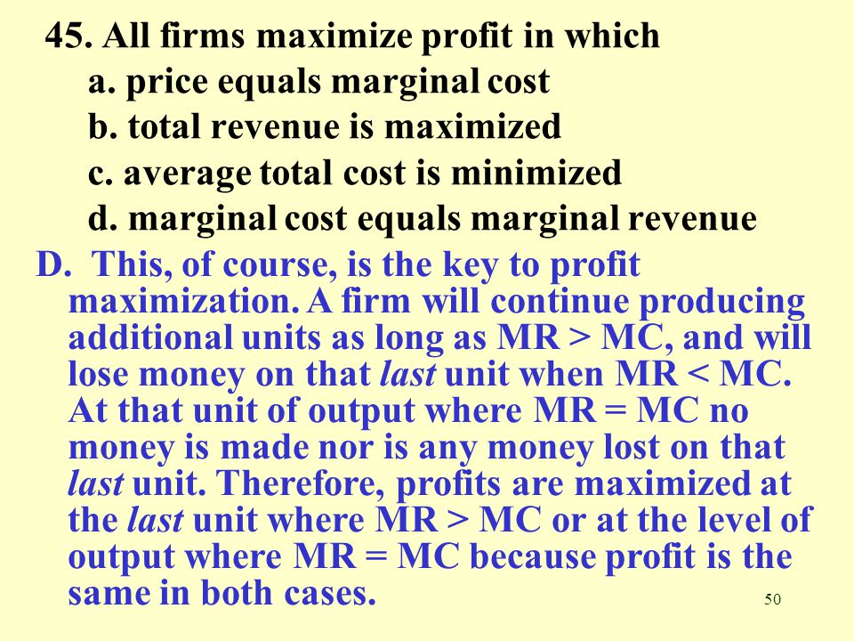 marginal cost and tutorial chapter Chapter 9: marginal and absorption  marginal production cost is the part of the cost of one unit of productor service which would be avoided if that unit.