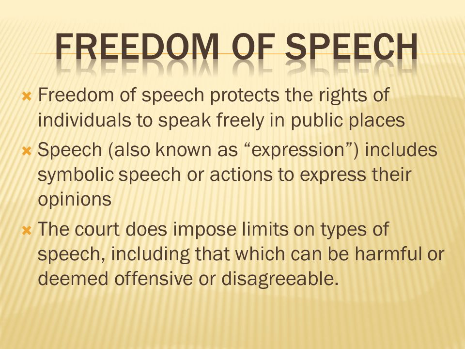 speak freely limits of free speech In a sense, this is a golden age for free speech your smartphone can call up newspapers from the other side of world in seconds more than a billion tweets, facebook posts and blog updates are.