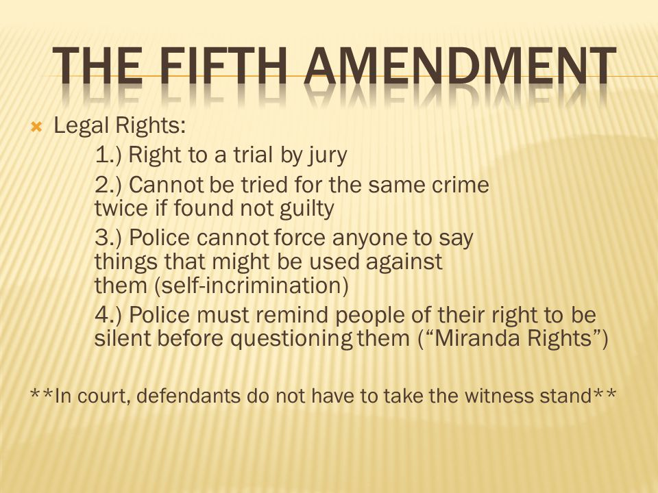 an essay on the fifth amendment