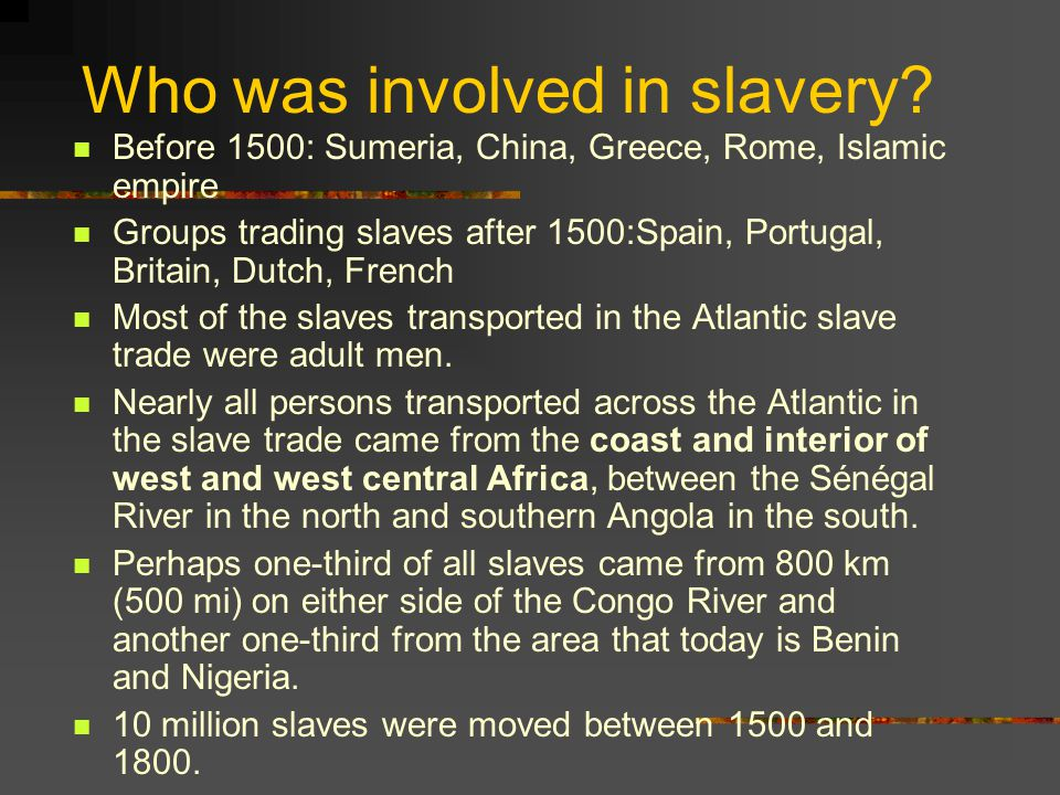 atlantic slave trade 1500 1800 Free essay: even before the first humans on earth, there has always been a constant change in the landscape from the first cultivated fields of the.
