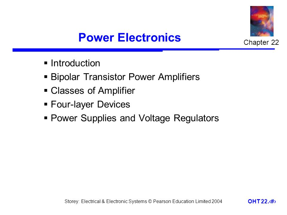 Power Electronics Introduction Bipolar Transistor Power Amplifiers