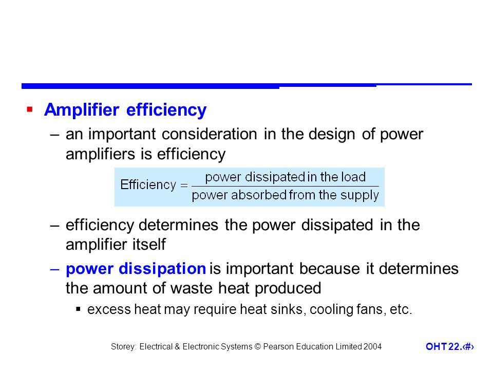Amplifier efficiency an important consideration in the design of power amplifiers is efficiency.