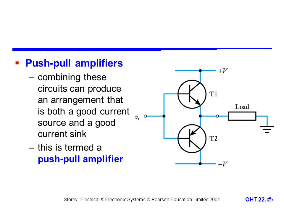 Push-pull amplifiers combining these circuits can produce an arrangement that is both a good current source and a good current sink.