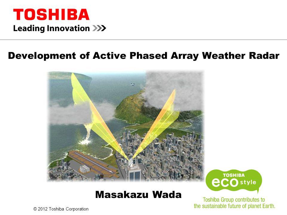 Development of Active Phased Array Weather Radar