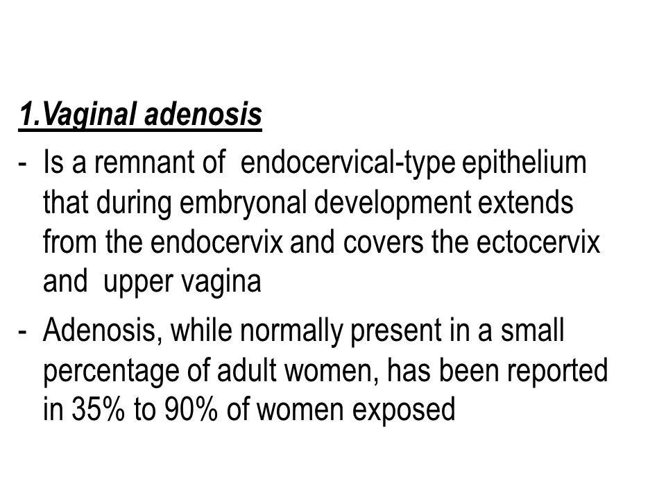 1.Vaginal adenosis