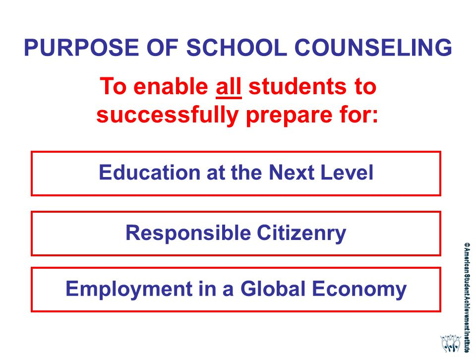purpose of counseling Purpose the purpose of student counseling is to provide personal, crisis, and  developmental mental health counseling, educational programming and.