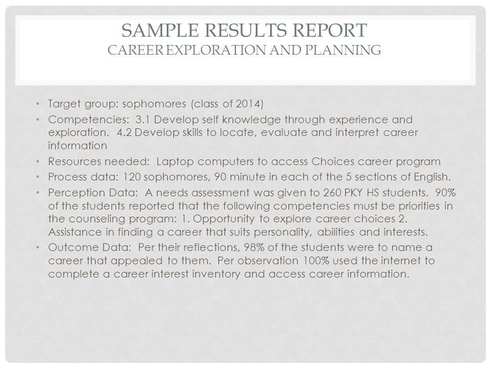 career interest profiler and competencies results You can learn more about your interests, skills,  to receive your results onet interest profiler:  career competencies that employers.