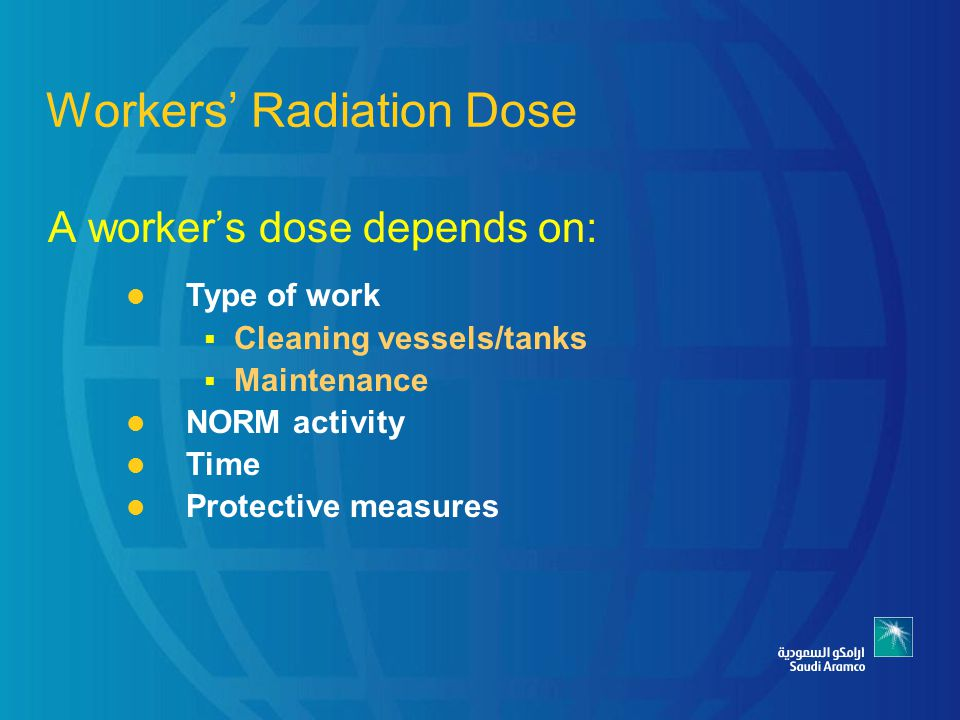 Workers' Radiation Dose