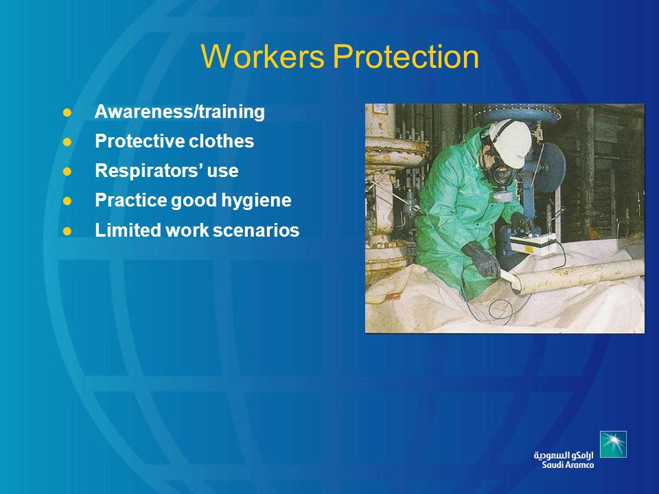 Workers Protection Awareness/training Protective clothes