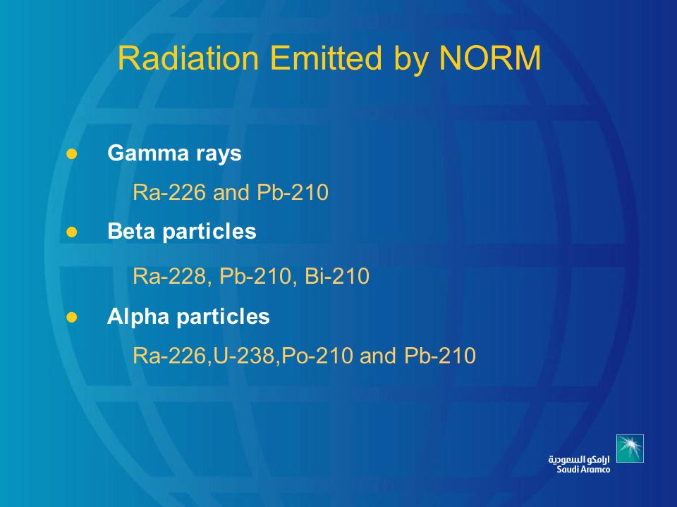 Radiation Emitted by NORM