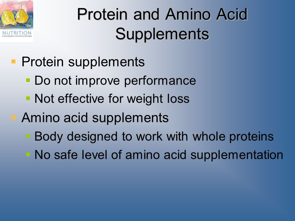 comparing effectiveness of protein and amino acid supplements Protein supplements and exercise  the reasons cited for using protein and amino acid supplements include stimulation and maintenance of muscle growth and strength .