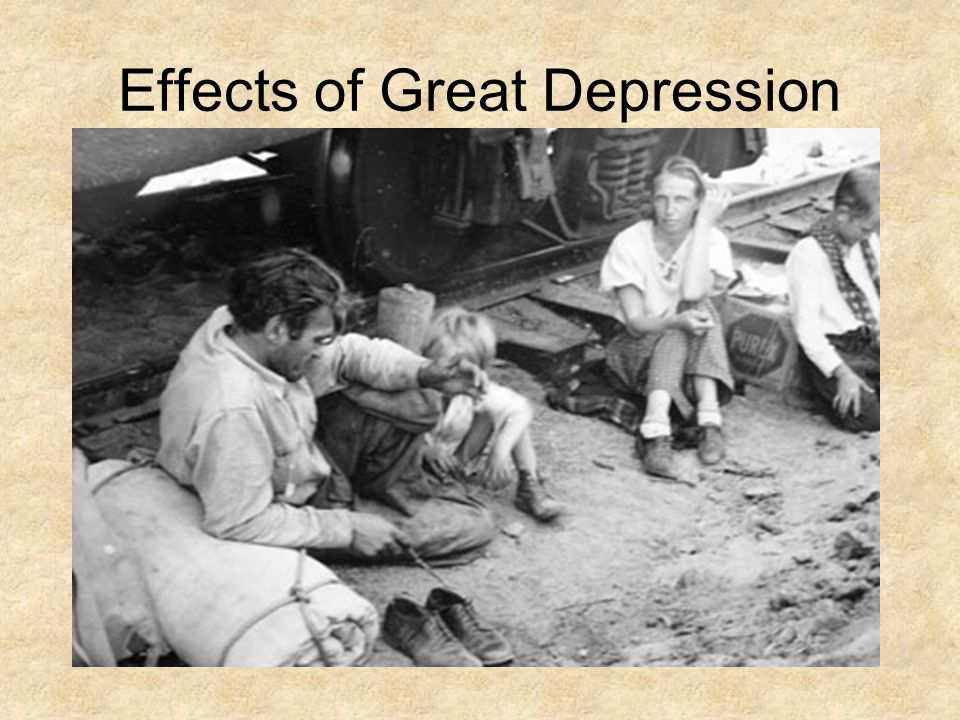 FAMILY AND HOME, IMPACT OF THE GREAT DEPRESSION ON