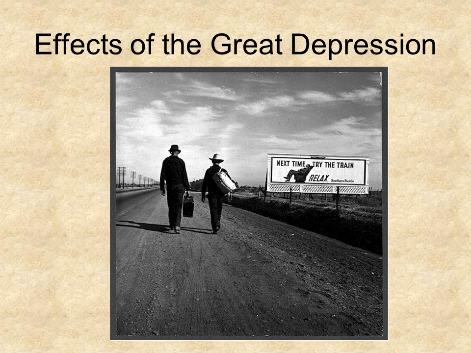 The great depressions impact on families